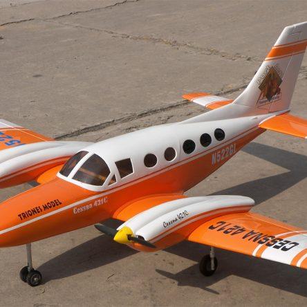 "Cessna 421 71"" Nitro Gas RC Airplane ARF Orange"
